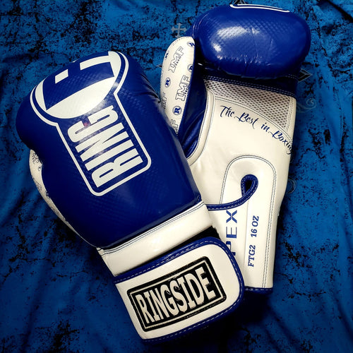 RINGSIDE GLOVES SPARRING APEX FTG2 BLUE/WHITE