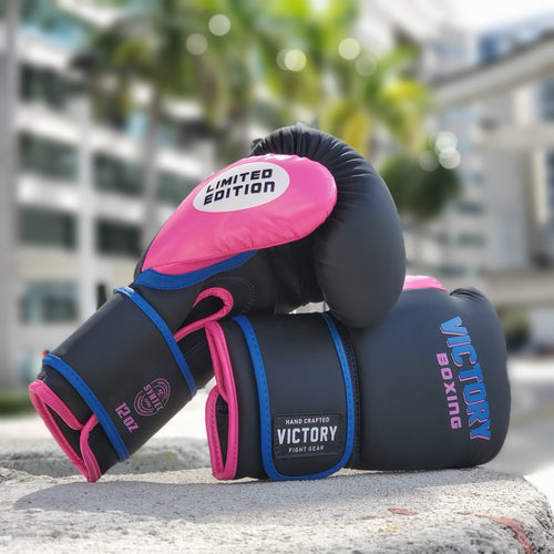VICTORY GLOVES BOXING LIMITED EDITION MIAMI BOXING VICE BLACK/PINK