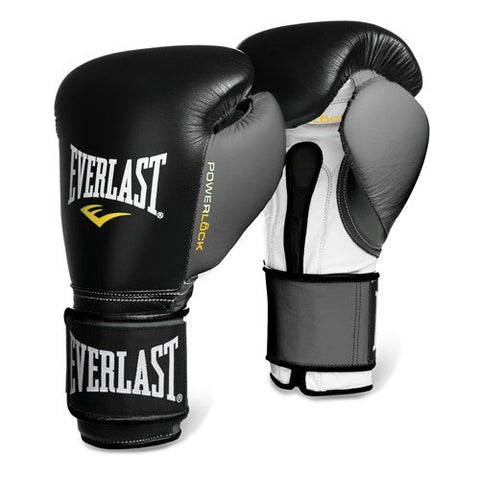 EVERLAST GLOVES POWERLOCK VELCRO BLACK/GREY