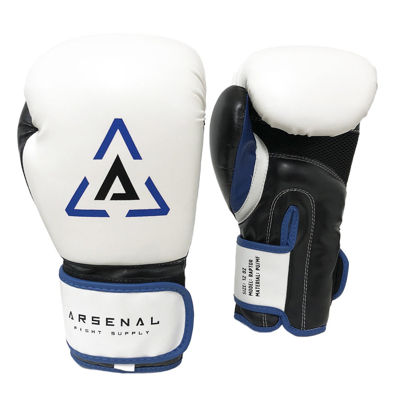 ARSENAL GLOVES RAPTOR BOXING - WHITE/BLUE