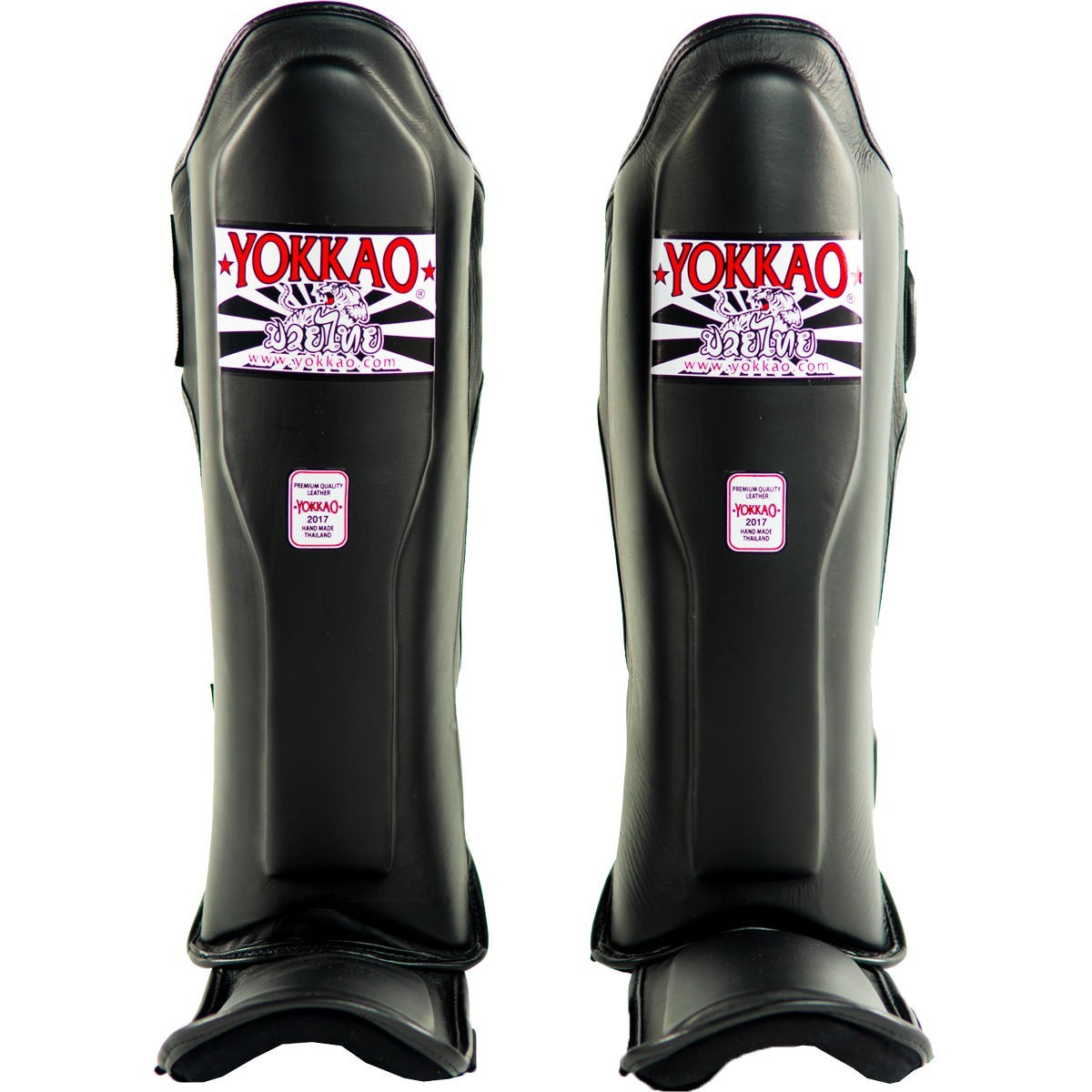 YOKKAO SHINGUARDS MATRIX THAI STANDUP BLACK - MSM FIGHT SHOP