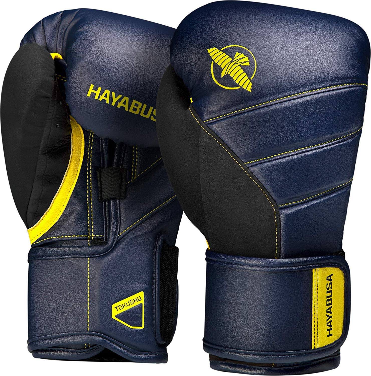 HAYABUSA GLOVES BOXING T3 NAVY/YELLOW - MSM FIGHT SHOP