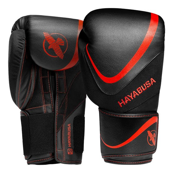 HAYABUSA GLOVES VELCRO BOXING H5 BLACK/RED
