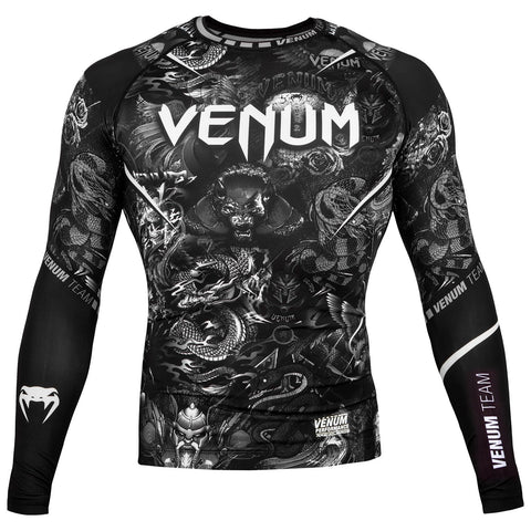 VENUM RASHGUARD ART L/S - BLACK/WHITE