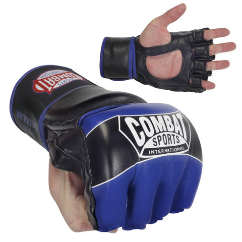 COMBAT SPORTS MMA GLOVES FG3S BLUE/BLACK - MSM FIGHT SHOP