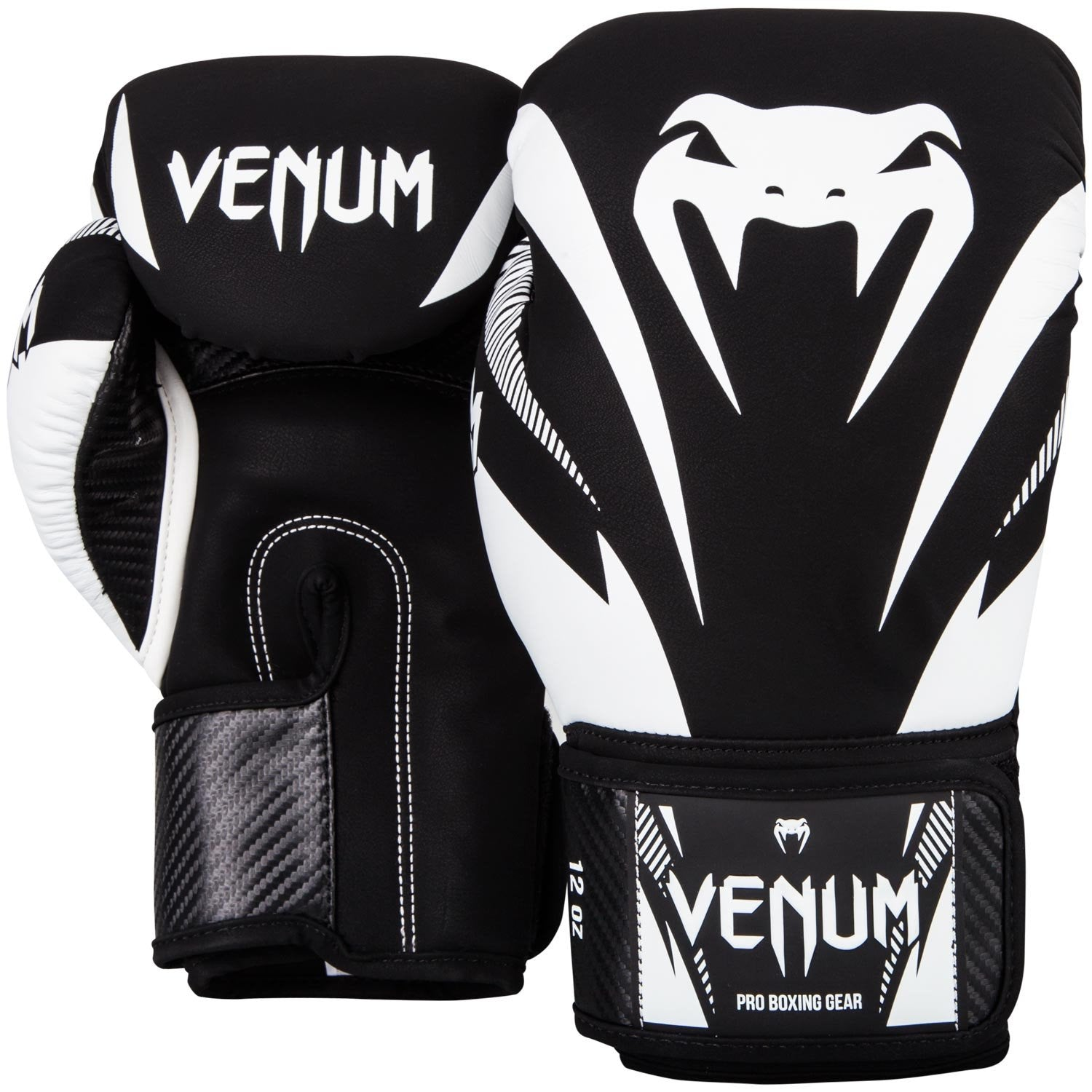 VENUM GLOVES IMPACT BLACK/WHITE - MSM FIGHT SHOP