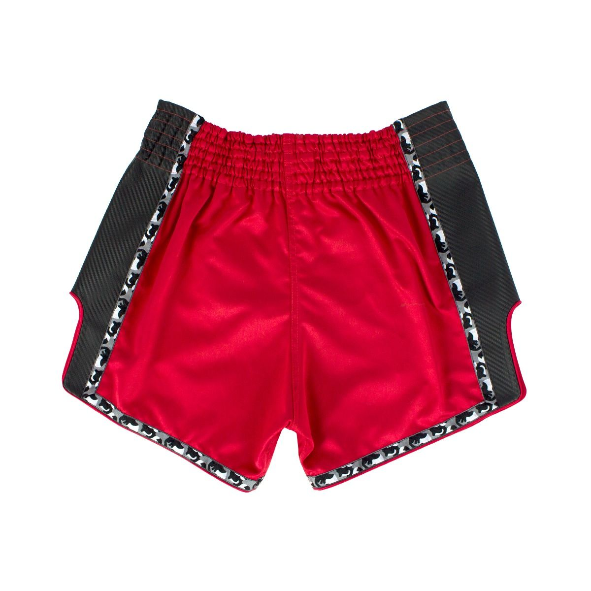 FAIRTEX THAI SHORTS SLIM CUT SATIN RED/BLACK