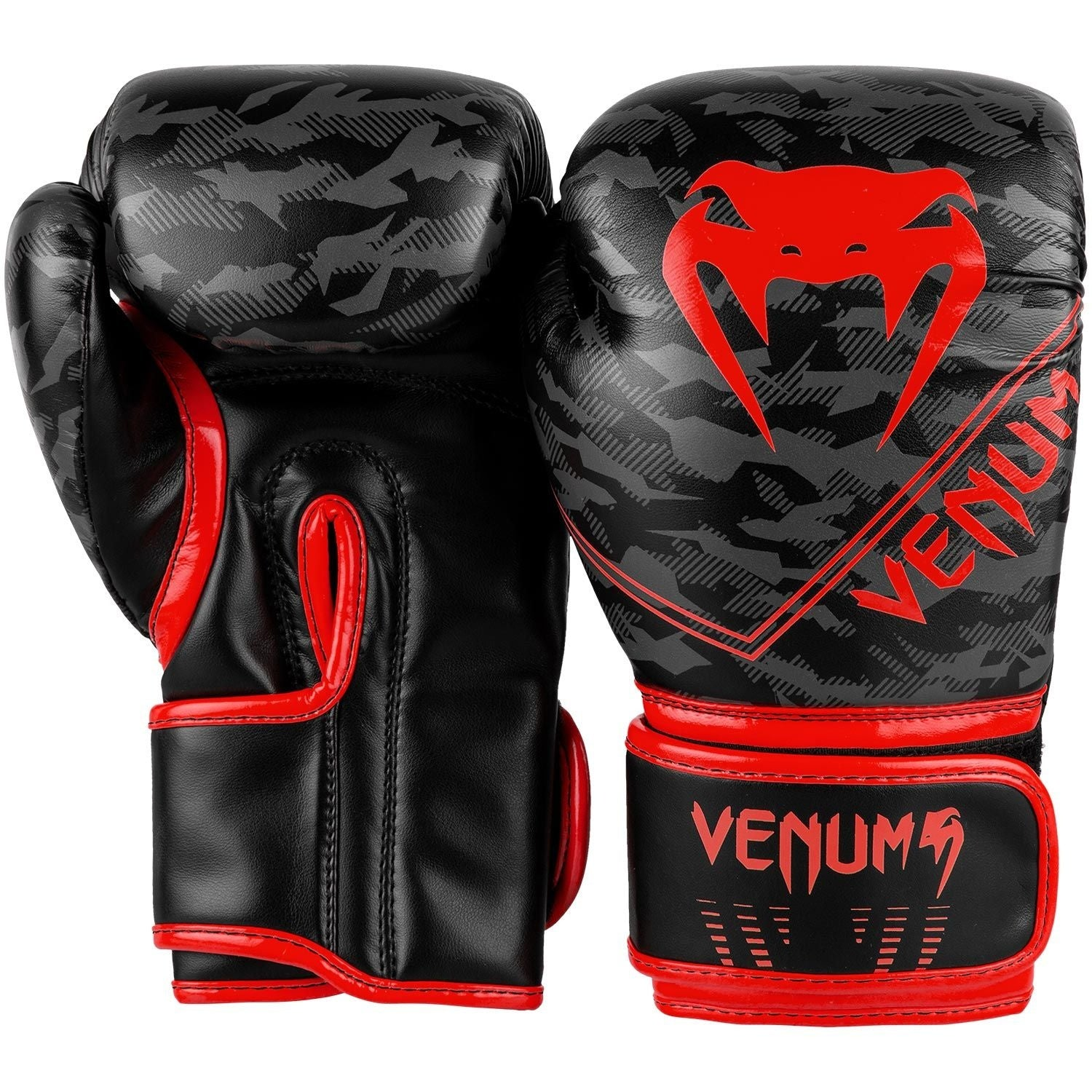 VENUM GLOVES KIDS OKINAWA BOXING BLACK/RED