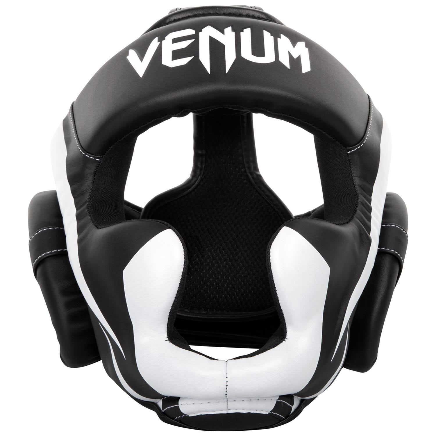 VENUM HEADGEAR ELITE BLACK/WHITE - MSM FIGHT SHOP