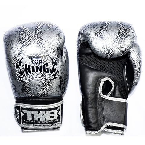 TOP KING GLOVES THAI SNAKE SILVER/BLACK