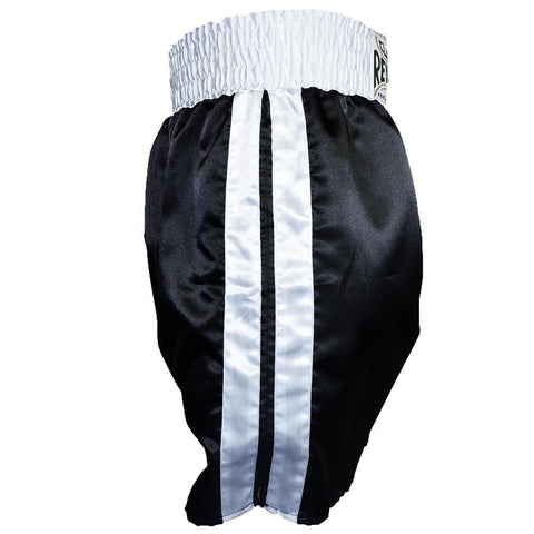 CLETO REYES BOXING SHORTS SATIN BLACK/WHITE - MSM FIGHT SHOPCLETO REYES