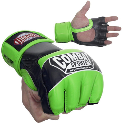COMBAT SPORTS MMA GLOVES YOUTH FG3S GREEN/BLACK - MSM FIGHT SHOPCOMBAT SPORTS