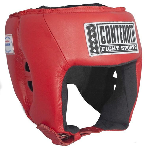 CONTENDER HEADGEAR COMPETITION APPROVED AHG1 RED - MSM FIGHT SHOPCONTENDER