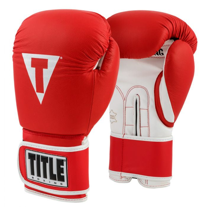 TITLE GLOVES PRO STYLE LEATHER RED/WHITE