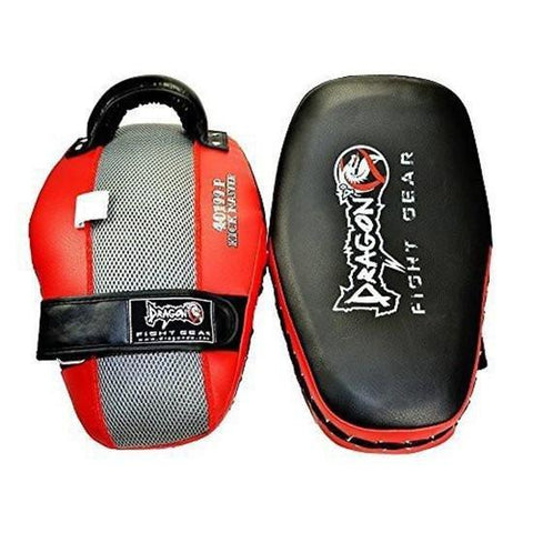 DRAGON DO THAI PADS KICK MASTER BLACK/RED - MSM FIGHT SHOPDRAGON DO