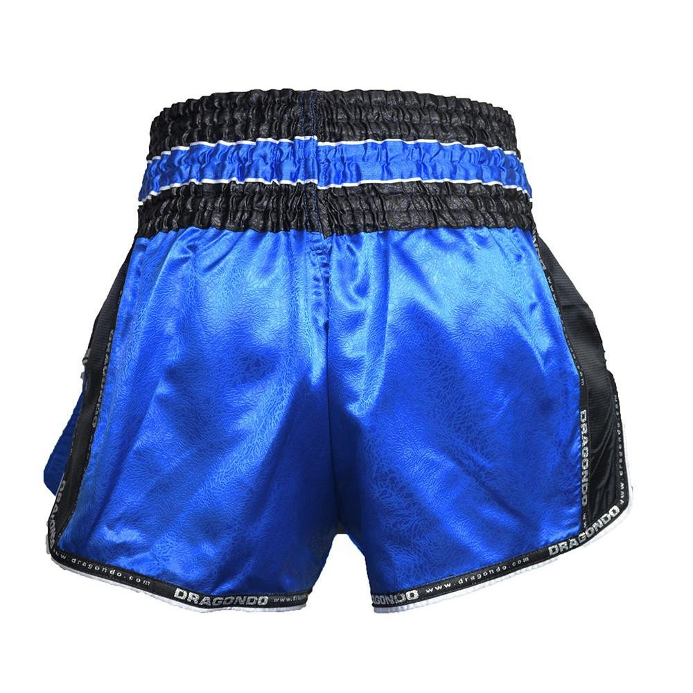 DRAGON MUAY THAI SHORTS RETRO BLUE/BLACK - MSM FIGHT SHOPDRAGON DO