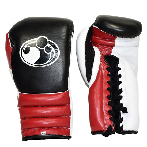 GRANT GLOVES LACE TRAINING BLACK/RED - MSM FIGHT SHOP