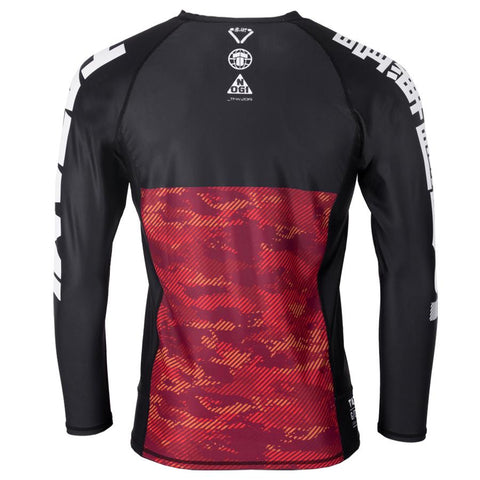 TATAMI RASHGUARD L/S ESSENTIAL CAMO BLACK RED