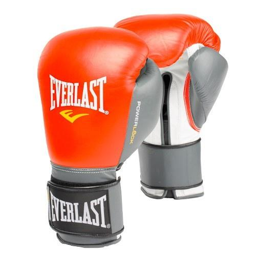 EVERLAST GLOVES POWERLOCK VELCRO LEATHER RED/GREY - MSM FIGHT SHOPEVERLAST