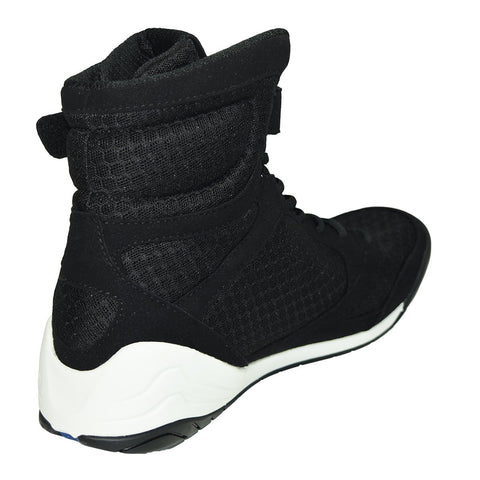 EVERLAST SHOES ELITE BOXING BLACK/WHITE - MSM FIGHT SHOPEVERLAST