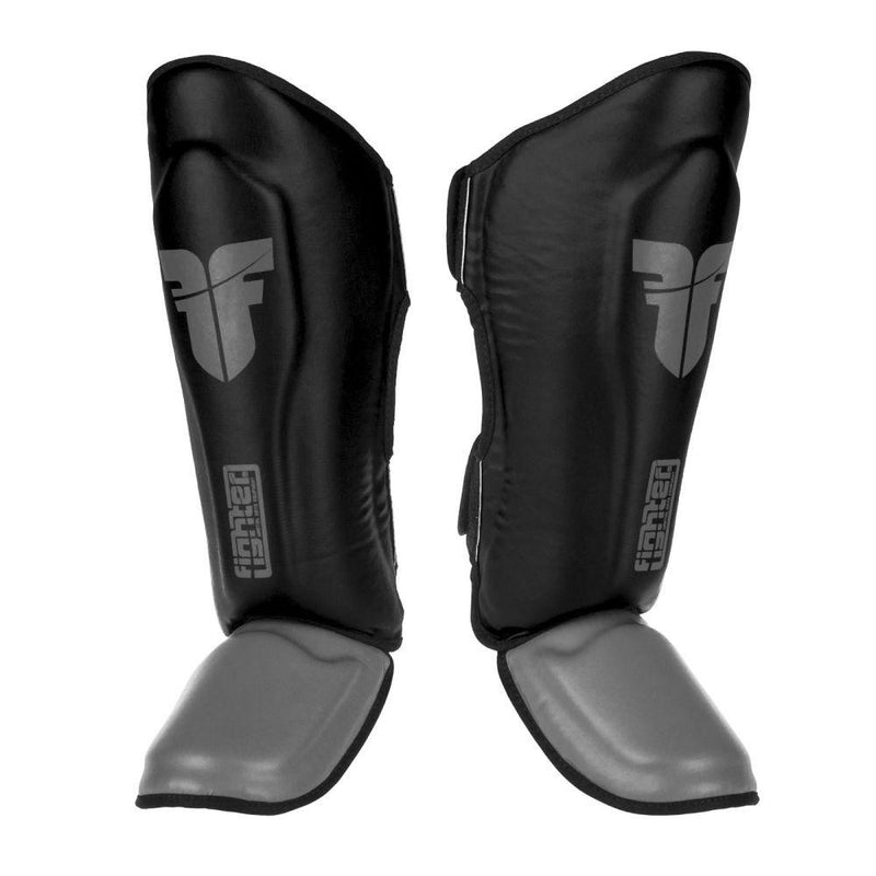FIGHTER SHINGUARDS THAI CLASSIC - BLACK/GREY