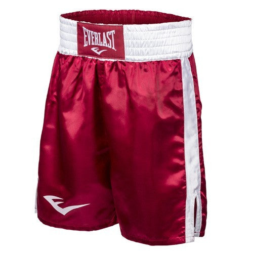 EVERLAST BOXING SHORTS RED/WHITE - MSM FIGHT SHOP