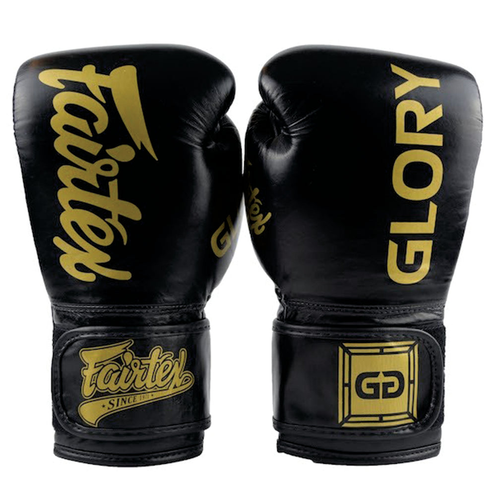 FAIRTEX GLOVES GLORY VELCRO BGVG1 - BLACK/GOLD - MSM FIGHT SHOP
