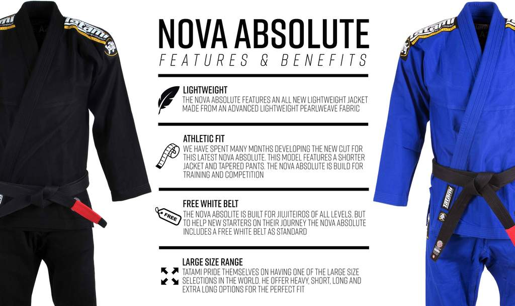 TATAMI GI ADULT NOVA ABSOLUTE BJJ BLACK - MSM FIGHT SHOP