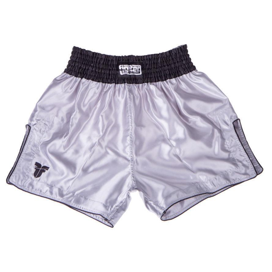 FIGHTER THAI SHORTS CLASSIC GREY/BLACK - MSM FIGHT SHOPFIGHTERS