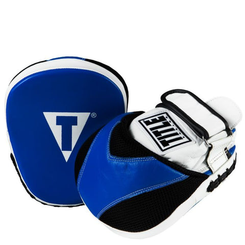 TITLE MICRO FOCUS MITTS BLUE WHITE