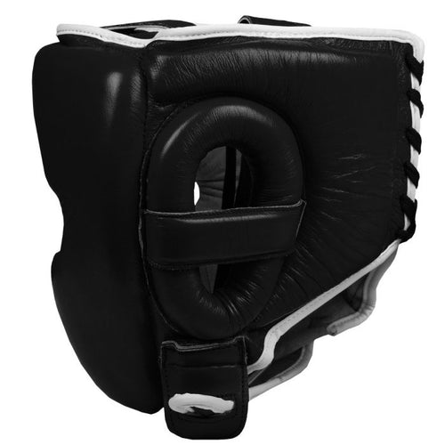 TITLE HEADGEAR LEATHER SPARRING JAPAN STYLE BLACK