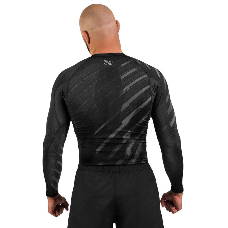 HAYABUSA RASHGUARD METARU 2.0 L/S BLACK/GREY - MSM FIGHT SHOPHAYABUSA