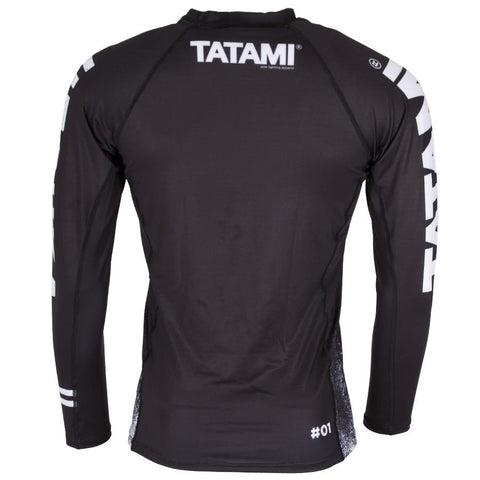 TATAMI RASHGUARD L/S JITSUKA BLACK/WHITE - MSM FIGHT SHOP