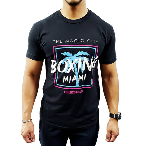 MSM SHIRT MAGIC CITY BOXING MIAMI BLACK/BLUE/PINK - MSM FIGHT SHOPMSM FIGHT SHOP