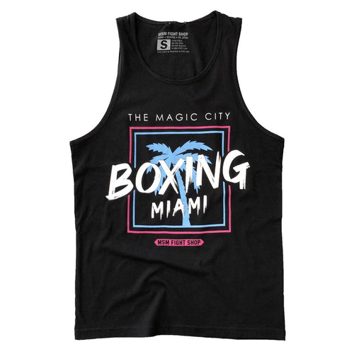 MSM TANK MAGIC CITY BOXING MIAMI BLACK/BLUE/PINK - MSM FIGHT SHOPMSM FIGHT SHOP