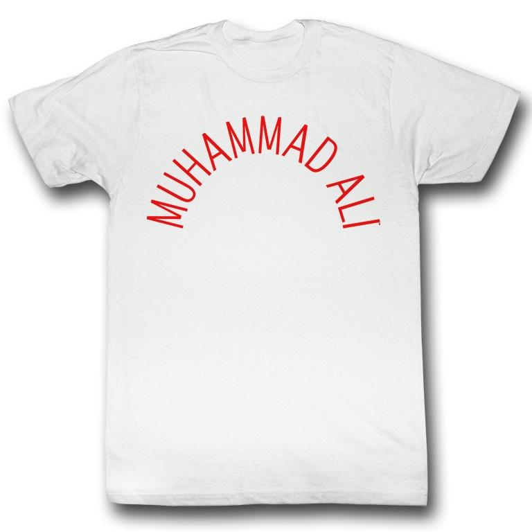 MUHAMMAD ALI SHIRT CLASSIC ARCH TEXT WHITE/RED - MSM FIGHT SHOPMUHAMMAD ALI
