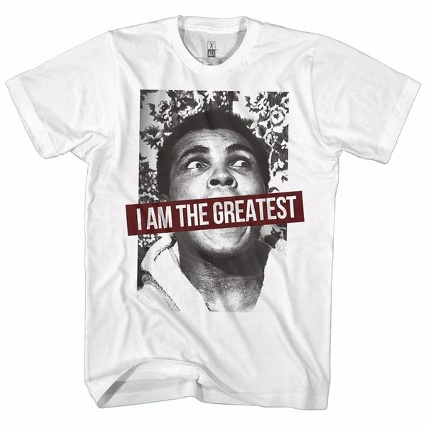 MUHAMMAD ALI SHIRT I AM THE GREATEST WHITE - MSM FIGHT SHOPMUHAMMAD ALI