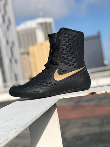 NIKE SHOES KO BOXING BLACK/GOLD - MSM FIGHT SHOPNIKE