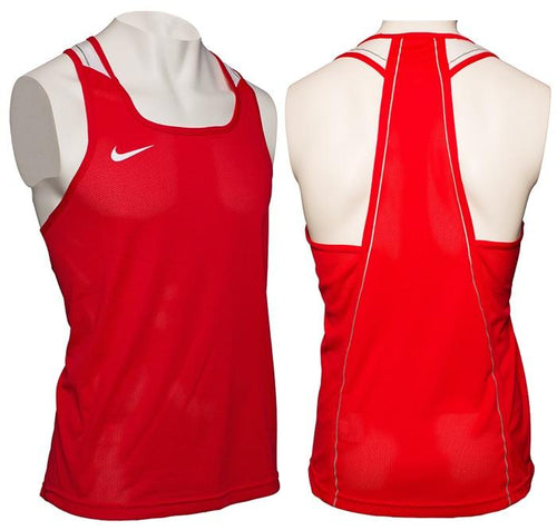 NIKE TANK V2 DRI-FIT BOXING RED - MSM FIGHT SHOPNIKE