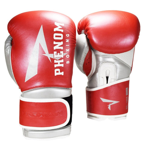 PHENOM BOXING GLOVES PARAGON VELCRO RED/SILVER - MSM FIGHT SHOPPHENOM BOXING
