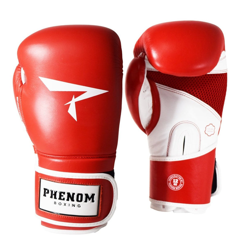 PHENOM BOXING GLOVES S4 LEATHER VELCRO RED - MSM FIGHT SHOPPHENOM BOXING