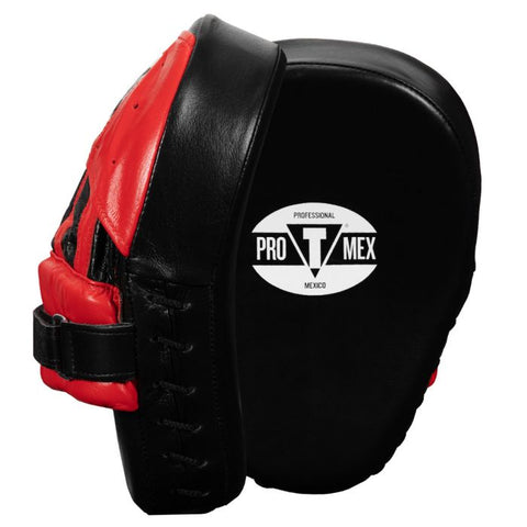 PRO MEX FOCUS MITTS PANTERA V2 LEATHER RED/BLACK