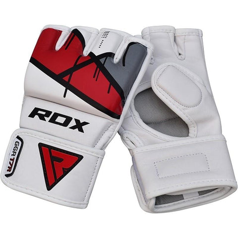 RDX MMA GLOVES T7 GRAPPLING WHITE/RED - MSM FIGHT SHOPRDX