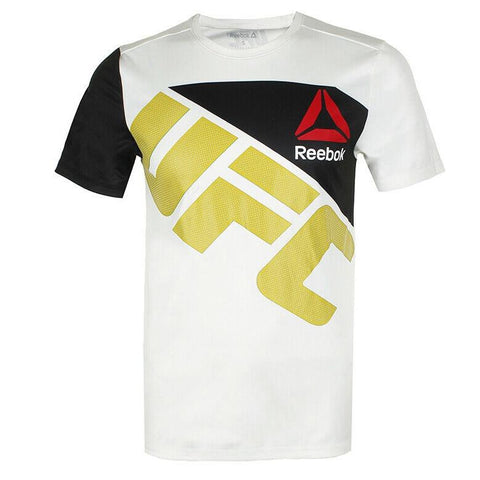 REEBOK UFC JERSEY WALKOUT WHITE/BLACK/YELLOW - MSM FIGHT SHOPUFC