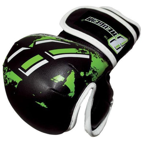 REVGEAR MMA GLOVES YOUTH DELUXE MMA BLACK/GREEN - MSM FIGHT SHOPREVGEAR
