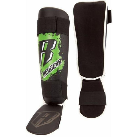 REVGEAR SHINGUARDS YOUTH BLACK/GREEN - MSM FIGHT SHOPREVGEAR