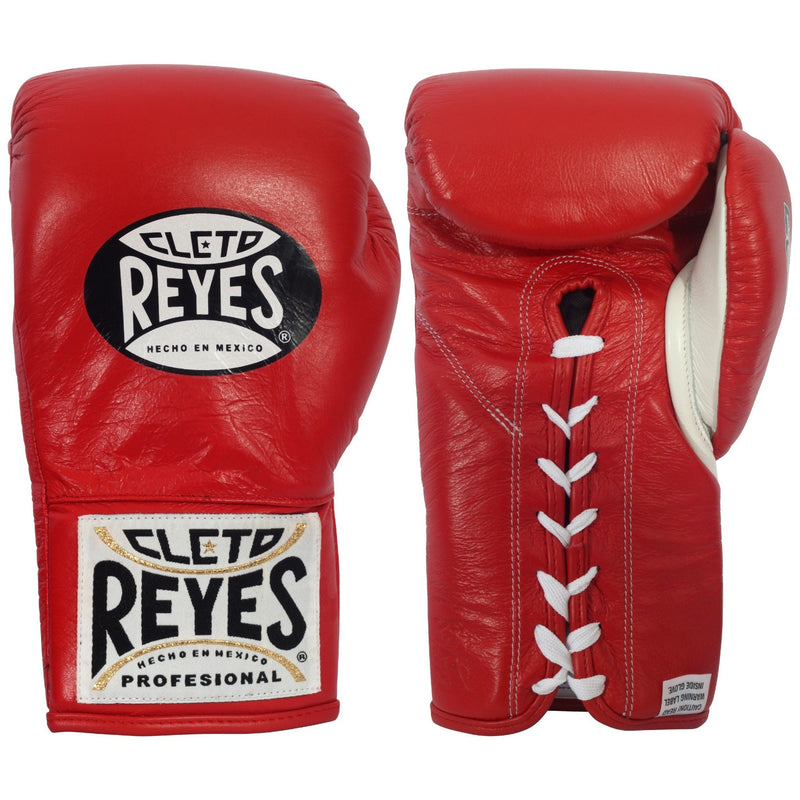 CLETO REYES FIGHT GLOVES SAFETEC BOXING LACE RED