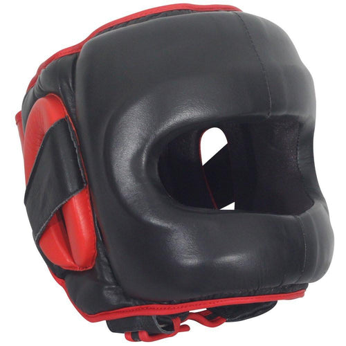 RINGSIDE HEADGEAR FACE SAVER DFSH BLACK/RED - MSM FIGHT SHOPRINGSIDE