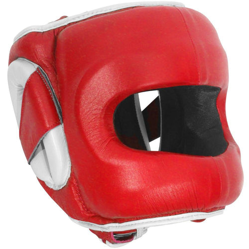 RINGSIDE HEADGEAR FACE SAVER DFSH RED/WHITE - MSM FIGHT SHOPRINGSIDE
