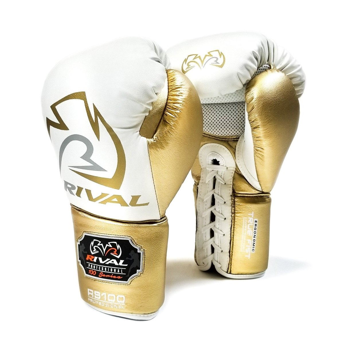 RIVAL GLOVES LACE RS100 LIMITED EDITION WHITE/GOLD - MSM FIGHT SHOPRIVAL BOXING